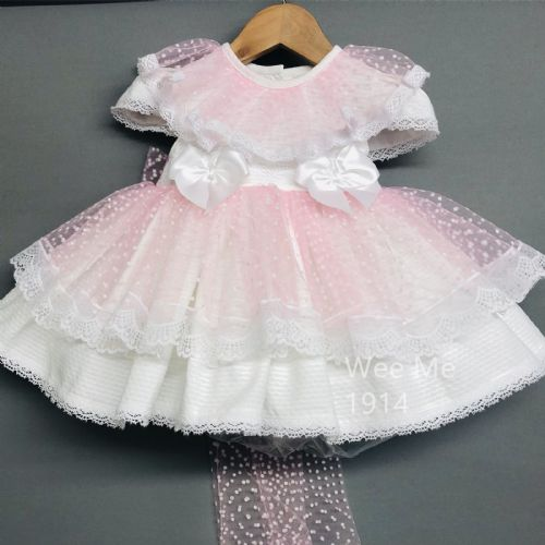 New Arrival Gorgeous Baby Girl Spanish Pink Puff Ball Dress Tutu